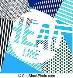abstract bakground with lines - Grunge vector background...