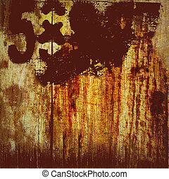 Grunge Background with Red Digits - Dirty looking grunge...