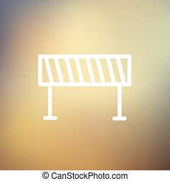 Road Barrier thin line icon - Road barrier icon thin line...