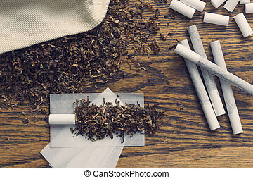 Rolling Cigarettes - Rolling cigarettes with filters papers...