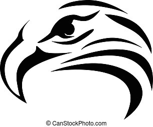 Eagle head tattoo design, vector eps 10