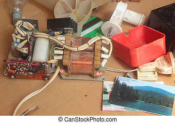 old electrical components