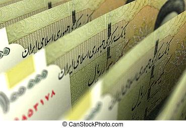 Iranian Rial Closeup