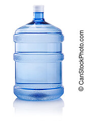 Big bottle of water isolated on white background