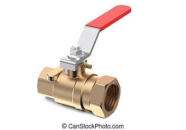 red ball valve