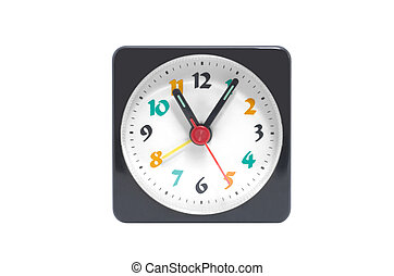 colorful clock isolated on a white background