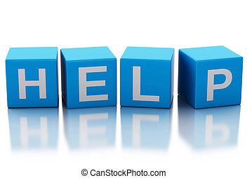 3d image of help cubes