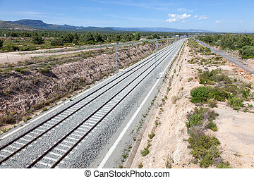 New railway track for high speed trains in southern Spain