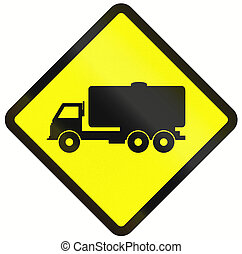 Tank Truck Warning Sign In Indonesia