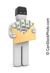Stolen money - Image contain the clipping path