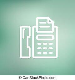 Fax machine thin line icon - Fax machine icon thin line for...