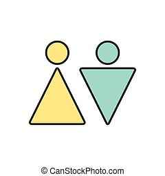 Vector heterosexual couple icon Eps10 - Vector heterosexual...
