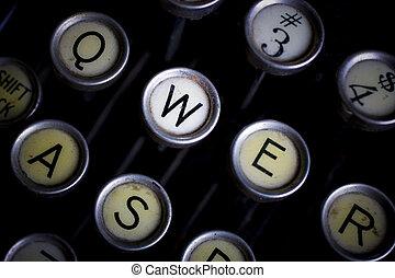 typewrite - detail of an old typewriter