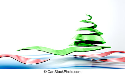 conceptual christmas tree - 3D representation of abstract...