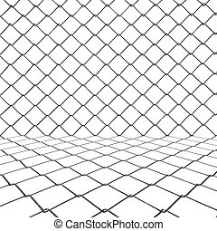 Metal chainlink grid background