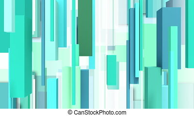 Abstract green vertically square