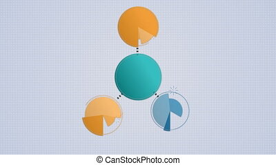 Circle diagram flow chart, 4 circle - Circle diagram flow...