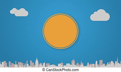 Circle diagram animation for topic introduction or...