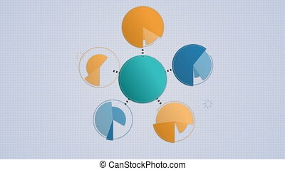 Circle diagram flow chart, 6 circle - Circle diagram flow...