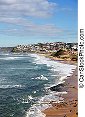 Newcastle Australia - Bar Beach and Merewether beach are...