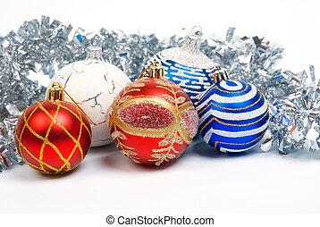Christmas balls .