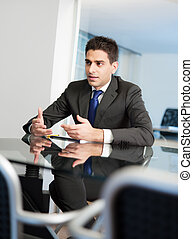 businessman in meeting room