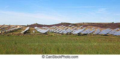 Solar Power Station - A large solar power station located in...