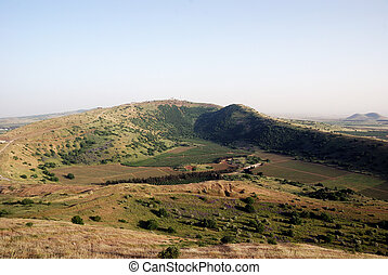 Golan heights - Panoramic view of golan heights, Israel 2009