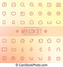 Trendy Line Vector Icons Web Mobile Applications - Set of...