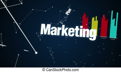 Text animation Business - Plan, marketing, vision, strategy,...