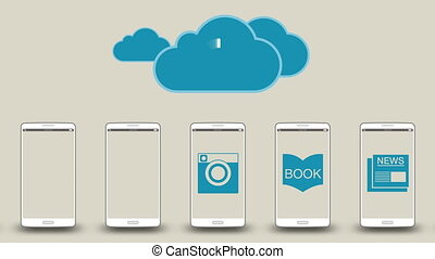 Download application data to cloud