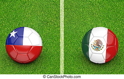2015 Copa Chile vs Mexico - 2015 Copa America football...