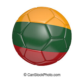 Soccer ball with flag of Lithuania - Soccer ball, or...