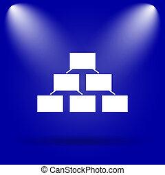Organizational chart icon