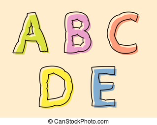 ADCDE colorful alphabet letters - ADCDE set of colored...