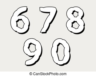 67890 set of numbers with a bloated - 67890 set of numbers...