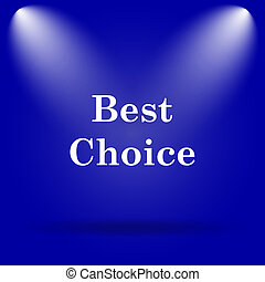 Best choice icon Flat icon on blue background