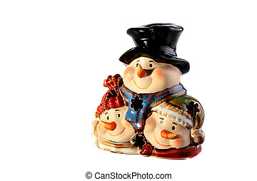 Snowballs - Ceramic New Year\'s ornament in the form of...