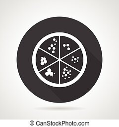 Petri dish black round vector icon - Single black round flat...