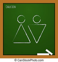 Vector heterosexual couple icon. Eps10 - Vector heterosexual...