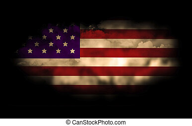 veterans Day - flag of united state of america
