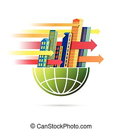 Fast World Business Pace - Vector illustration of fast world...
