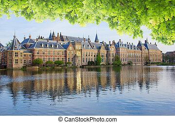 -,  binnenhof, Parlamento, holanda, holandés