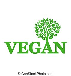 Symbol of vegetarianism and wood