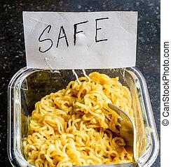 """noodles, instante, cartão,  """"safe"""""""