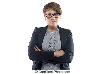 Photo of pudgy business woman with short hair