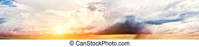 Colorful sky and clouds. Summer background