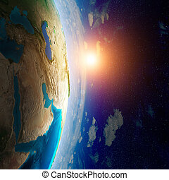Earth from space. Elements of this image furnished by NASA