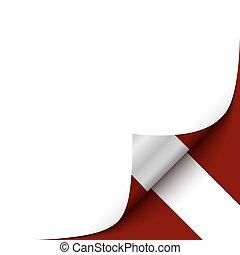 Curled up Paper Corner on Latvian Flag BackgroundVector...