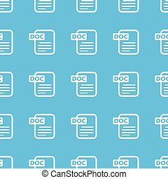 Doc file straight pattern - Image of page with text doc,...